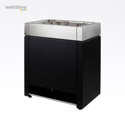 Sentiotec Qube bastuaggregat, 10,5 kW Svart/rostfritt stål