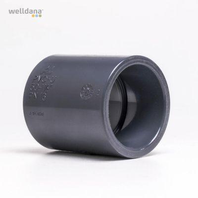 PVC muffe 50 x 48mm US
