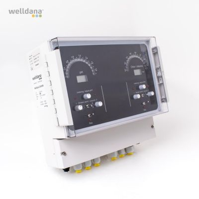 Welldana® kemikaliekontroll pH/Cl, on/off+frekvens, komplett
