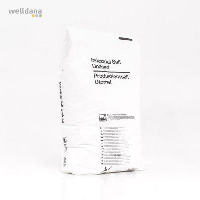 Raffinerat salt i 25 kg säck. (NaCl) 99,9%. Max 3% fukt.