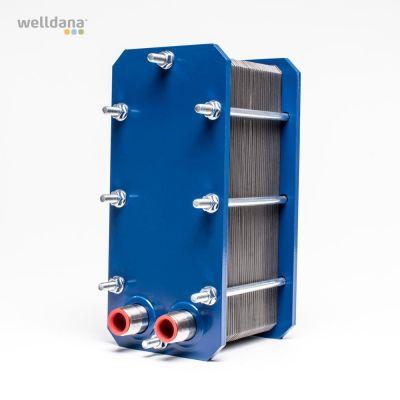 Plattvärmeväxlare. APV. 104 kW 316 liter. 3/4