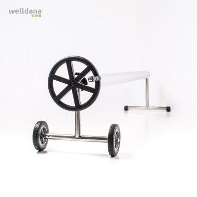 Upprullningsstativ rostfritt m/hjul Kom ihåg att beställa rör