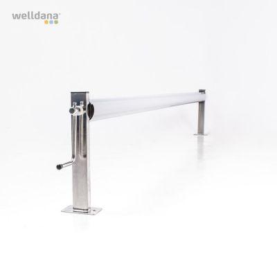 Upprullningsstativ rostfritt stål 305 mm centrumhöjd. (u/rör)