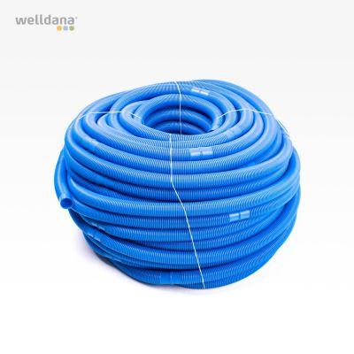 100 meter vakuumslang 38 mm. Blå