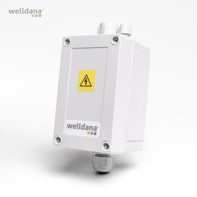 Welldana® kontaktbox Till max 12 kW elvärmare.