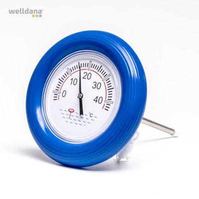 Termometer m/blå ring.