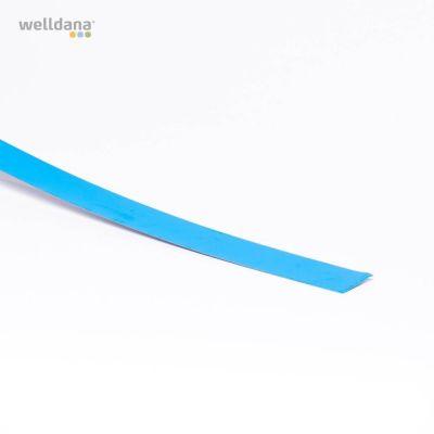 Foliebleck 5 x 200 cm.  Rak modell. Blå.