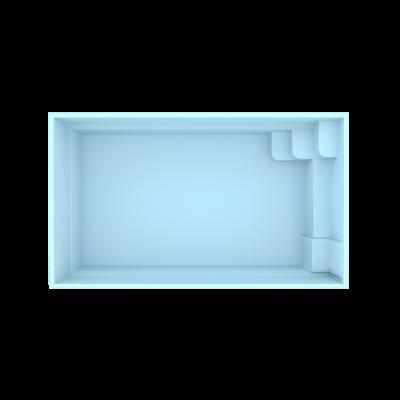 Fiberpool modell San Marino 4,5 x 2,5 x 1,3 m