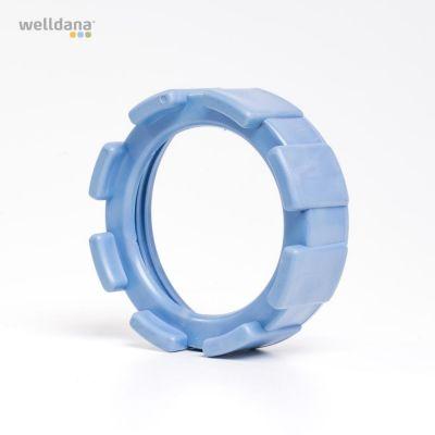 låsring för gängad cell Gamla modellen ljusblå