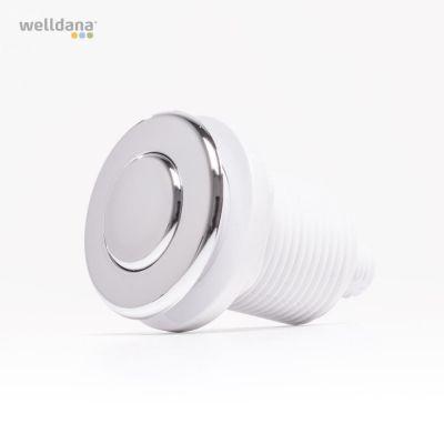 PN (luft) start/stopp-knapp. Komplett. Krom. Ø45,5 mm hål Ø30