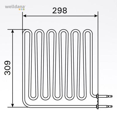 Bastuaggregat 2750 W, 230 V Vega (terminalsidan)