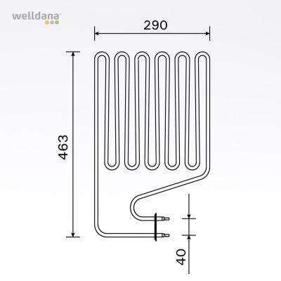 Bastuaggregat 3000W, 230 V Terminaler i sidan.
