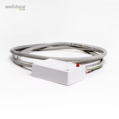 Nivåsensor. 5–25 V. 1 m. Vit/white/Weiss. T4-styrenhet.