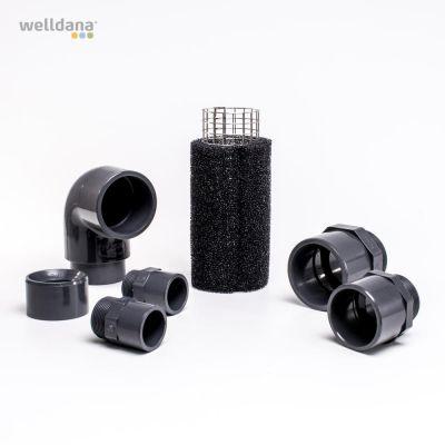Welldana® luftfilter/fläkt Universal. 1¼, 1½, 2, 2½