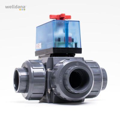 3-vägs ventilmotor. 24 VAC. t/solfångarstyrenhet.