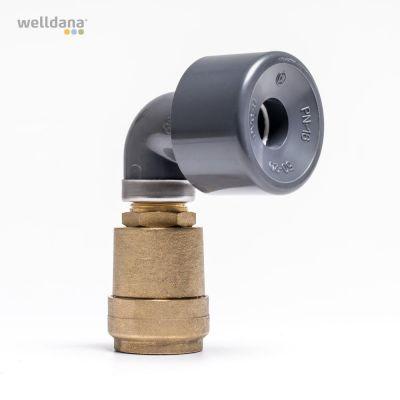 Luftningsventil för solpanel 50 mm. Dubbelverkande.