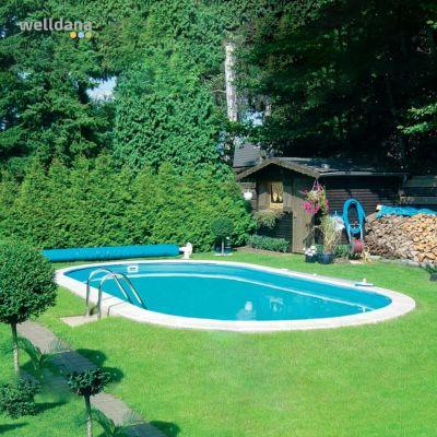 Oval pool Toscana