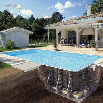 PPP-pool, komplett med liner